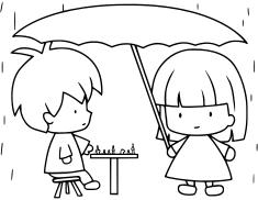 Hra v dešti