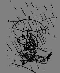 Ryba s deštníkem
